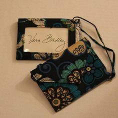 RETIRED VB Mod Floral Blue accessory combo Vera Bradley retired pattern - Two envelope-style luggage tags (rare, discontinued style) w/clear plastic ID window & extra long ties, plus Flip Phone Case in same rich blue & green print. Together these retail for more than $40. Selling all 3 for $9!  ***PLS SEE LISTING FOR MATCHING WALLET & CHECKBK COVER***  From SFPF home. Vera Bradley Bags