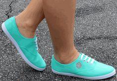 MONOGRAMMED MINT KICKBACK SNEAKERS #summer #comfy #sneakers