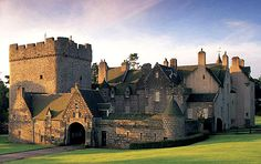 Drum Castle near Drumoak, Aberdeenshire, Scotland. For centuries Drum Castle was the seat of the chief of Clan Irvine.