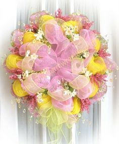 Spring. Beautiful! Picture is for inspiration. You can make this! Just play with the ribbon and have fun with it.  You'll be surprised with your project!