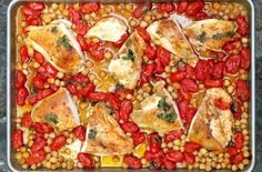 Roasted Chicken with Tomatoes and Chickpeas
