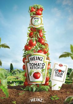 Advertising Campaign : Heinz 'Grow Your Own' Ketchup. Advertising Campaign Inspiration Heinz 'Grow Your Own' Ketchup. Advertisement Description Heinz 'Grow Your Own' Ketchup. Creative Advertising, Food Advertising, Ads Creative, Creative Posters, Advertising Poster, Advertising Campaign, Advertising Design, Creative Design, Contextual Advertising