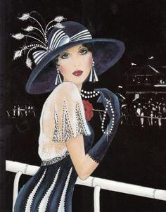 Fashion Poster Ideas Style Art Deco 50 Ideas For 2019 Art Deco Illustration, Illustrations Vintage, Vintage Art, Vintage Ladies, Art Deco Cards, Lampe Art Deco, Art Deco Stil, Art Deco Posters, Art Deco Design