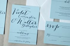 Lovely customizable letterpress wedding invitations from Silverplate Press ~ Penmanship Collection