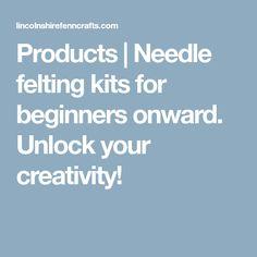 Products | Needle felting kits for beginners onward. Unlock your creativity!