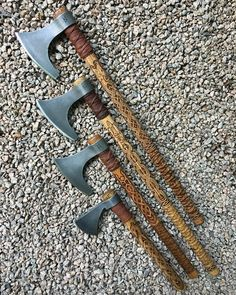 Sköll & Hati Custom Armory Knives And Tools, Knives And Swords, Wood Axe, Beil, Viking Axe, Battle Axe, Arm Armor, Fantasy Weapons, Cold Steel