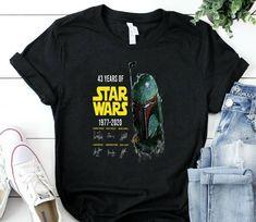 43 Rd Anniversary Star Wars 43 Years Of T Shirt star wars t-shirt top shirt star wars t-shirt tee top shirt for star wars fans Star Wars Tshirt, Cheap T Shirts, Tee Shirts, Anniversary, Stars, Trending Outfits, Sweatshirts, Top, Women