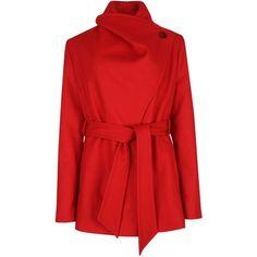 Ted Baker Matild short wrap coat ($265) ❤ liked on Polyvore