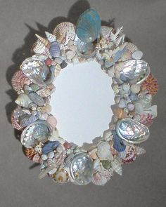 Hand Crafted Abalone & Shells Mirror :: from Nicholas P.