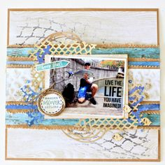 The Design Team members have captured their seaside memories by creating a layout featuring both the Fishing Net Designer Template IT902 and the Fishing Net Decorative Die DD745. The die cuts and …