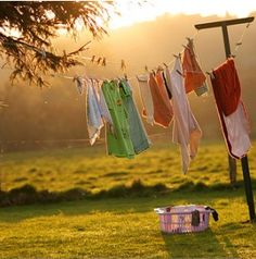 I seldom used a dryer except in the winter...the clothes smelled so sweet and fresh on the line; especially the sheets. Mmmm!