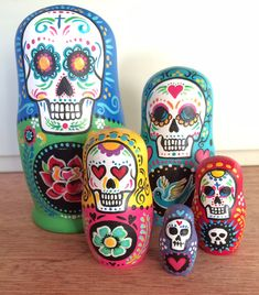 LOVE THESE!  Day of the Dead Nesting Dolls