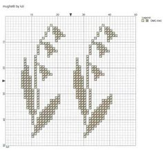 lily of the valley cross stitch chart pattern