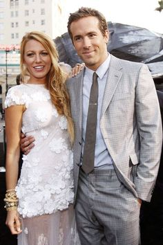 Ryan Reynolds and Blake Lively- they would have awesome looking babies!!