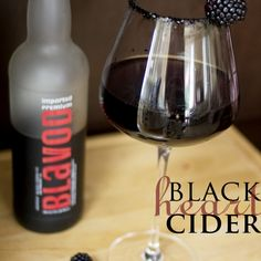 So inspired by the Halloween season, we came up with this, Black Heart Cider. Made from real black hearts from the evilest villains of Halloween's past. Ok… maybe not, but we can pretend! This dark and twisted cocktail looks the part of an evil potion, but tastes... #black #blackberry #champagne