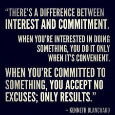 Commitment is,..