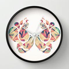 Peacocks Wall Clock by VessDSign - $30.00