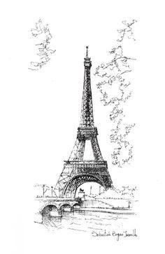 O croqui como método essencial de representação,Torre Eiffel / Paris. Imagem © Sebastián Bayona Jaramillo