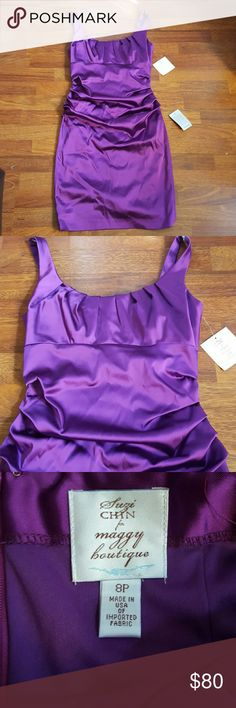 New with Tags cocktail dress Purple Dress New with Tags Suze Chin for maggy boutique Dresses