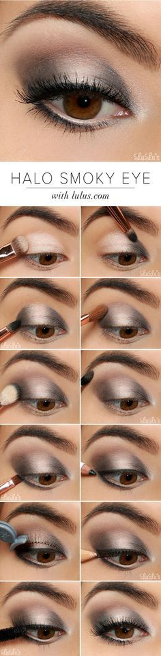 Easy Makeup Tutorials for Beginners – Silver Shimmer Smokey Eye