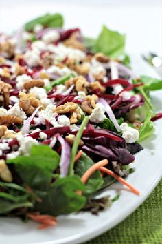 Baby Greens With Goat Cheese, Beets And Candied Pecans ...