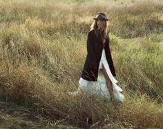 Mimi Plange Skirt, Todd Snyder Coat, Vintage Fedora