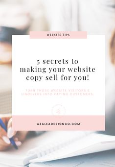 Learn my top 5 secrets to writing effective website copy to convert your visitiors into paying customers. Gain more attraction & make more sales. Business Entrepreneur, Business Tips, Increase Sales, How To Stop Procrastinating, Can You Be, Your Website, Copywriting, Internet Marketing, Storytelling