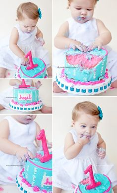 Love the idea of doing a First Birthday cake smash photo shoot!