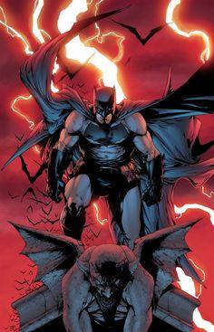 Batman on a Gargoyle - Jeremiah Skipper