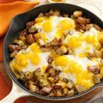 Baked Cheddar Eggs & Potatoes Recipe   Taste of Home