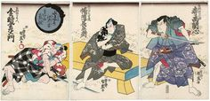 Utagawa Kunimori: Teranishi Kanshin, Banzui Chobei, and Kintoki Kaneemon - Museum of Fine Arts
