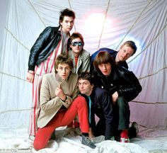 The Boomtown Rats (Bob Geldof, Gary Cott, Garry Roberts, Simon Crow, Pete Briquette and Jo...