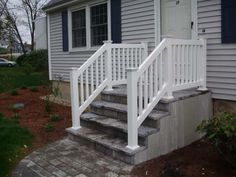 Beau Exterior Stair Railings Vinyl Deck Amp Stair Railings