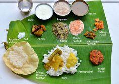 South Indian Full Meals-Lunch Menu For Guests-Thalai Vazhai Ilai Virundhu Indian Food Recipes, Vegetarian Recipes, Vegetarian Cooking, Meal Recipes, Spicy Recipes, Cooking Recipes, Small Cooker, Lunch Menu, Dinner Menu