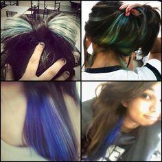 cabelos com mechas coloridas - Pesquisa Google