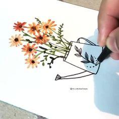 Watercolor Paintings For Beginners, Watercolor Video, Watercolor Projects, Watercolor Drawing, Watercolor Techniques, Watercolor And Ink, Watercolor Flowers Tutorial, Watercolour Tutorials, Team Member
