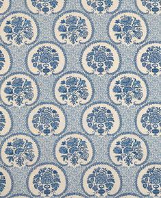 Persian Garden Cotton Print - Blue - Indoor Multipurpose Fabric Brunschwig