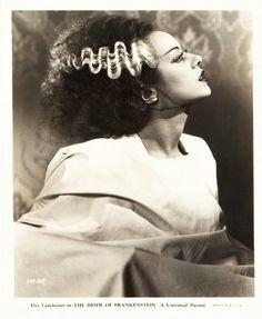 Portrait of Elsa Lanchester for Bride of Frankenstein directed by James Whale, 1935