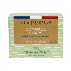 Kit de Fabrication Gommage Corps Naturel Kit Diy, Homemade Scrub, Flasks