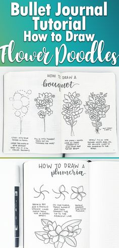 Flower Drawing Learn how to draw perfect, easy flower doodles for your bullet journal spreads and layouts. These super simple tutorials will take your flower drawings from 'pretty' to 'ahhhh!' Learn how to doodle flowers the right way. Simple Flower Drawing Designs, Simple Flower Design, Floral Drawing, Simple Flowers, Flower Designs, Flower Drawings, Drawing Flowers, Beautiful Flowers, Flower Patterns