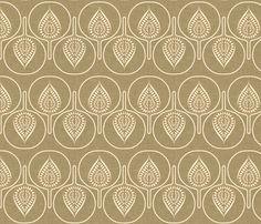 tree_hearts_linen fabric