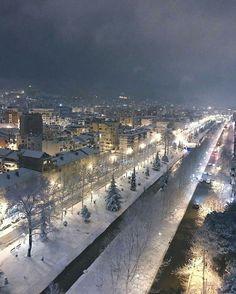 Snow in Tirana