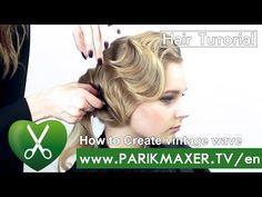 How to Create vintage wave parikmaxer TV USA - YouTube