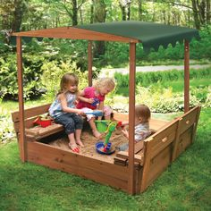 Badger Basket Covered Convertible Cedar Sandbox With Canopy And Two Bench Seats - Sandboxes at Hayneedle. $219.99