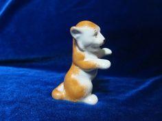 USSR Porcelain Figurine Tiger Small Polonnoe ZHK 1970 Ukrainian vintage