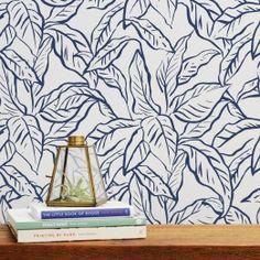 Flora Cobalt Periwinkle Self Adhesive Removable Wallpaper Meet Tempaper S Little Sister Collection Fres Fabric Wallpaper Floral Wallpaper Removable Wallpaper