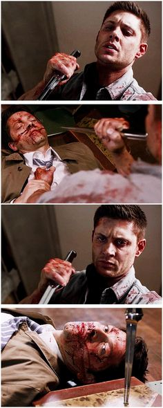 [gifset] 10x22 The Prisoner #SPN #Dean #Castiel Pretty sure I had a heart attack during this scene. This was way too painful.