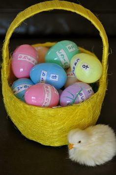 Site words & word families with Easter eggs