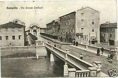 Come si presentava Viale Giosuè Carducci in una vecchia cartolina. Senigallia. Prov. di Ancona. Marche. Italia.