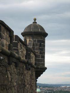 Detail of Edinburgh Castle - Scotland
